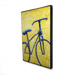 Framed 24 x 36 - 3D - Blue bike abstract