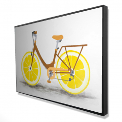 Framed 24 x 36 - 3D - Lemon wheel bike