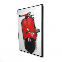 Framed 24 x 36 - 3D - Red italian scooter