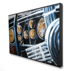 Framed 24 x 36 - 3D - Vintage car interior