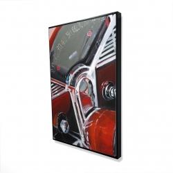 Framed 24 x 36 - 3D - Vintage red car dashboard