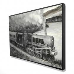 Framed 24 x 36 - 3D - Vintage passenger locomotive