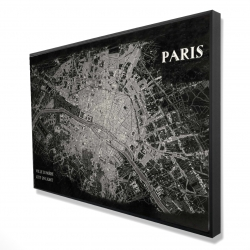 Framed 24 x 36 - 3D - Airplane satellite view