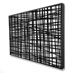 Framed 24 x 36 - 3D - Abstract small stripes