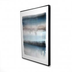 Framed 24 x 36 - 3D - Blue stripes