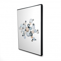 Framed 24 x 36 - 3D - Grayish bubbles