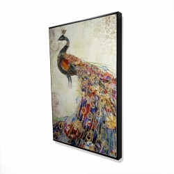 Framed 24 x 36 - 3D - Majestic peacock