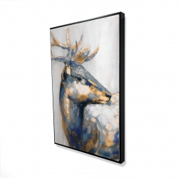 Framed 24 x 36 - 3D - Golden deer