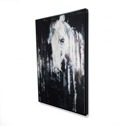 Framed 24 x 36 - 3D - Abstract horse on black background