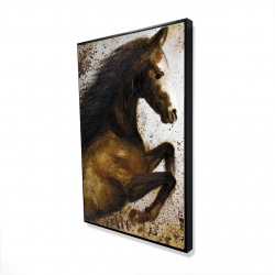 Framed 24 x 36 - 3D - Horse rushing into the dust