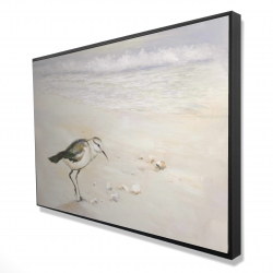 Framed 24 x 36 - 3D - Semipalmated sandpiper on the beach