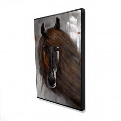 Framed 24 x 36 - 3D - Proud brown horse
