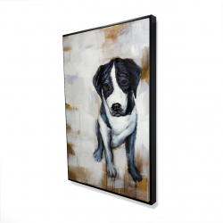 Framed 24 x 36 - 3D - Sitting dog