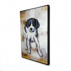 Framed 24 x 36 - 3D - Curious puppy dog