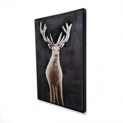 Framed 24 x 36 - 3D - Lonely deer