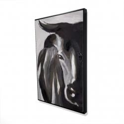 Framed 24 x 36 - 3D - Bull head closeup