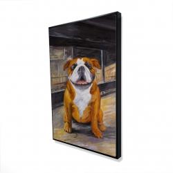 Framed 24 x 36 - 3D - Smiling bulldog