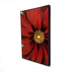 Framed 24 x 36 - 3D - Red daisy