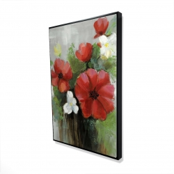 Framed 24 x 36 - 3D - Abstract wild flowers bundle
