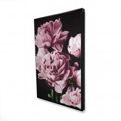 Framed 24 x 36 - 3D - Pink peonies