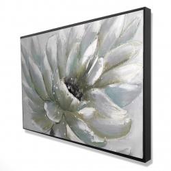 Framed 24 x 36 - 3D - White chrysanthemum