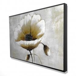 Framed 24 x 36 - 3D - Modern beige flower