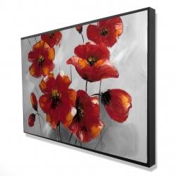 Framed 24 x 36 - 3D - Anemone flowers