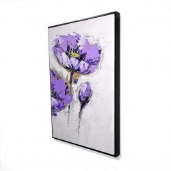 Framed 24 x 36 - 3D - Purple anemones