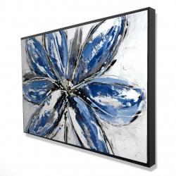 Framed 24 x 36 - 3D - Blue petal
