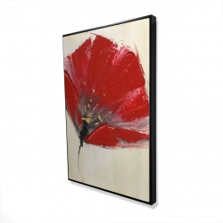Framed 24 x 36 - 3D - Two red flowers