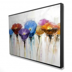 Framed 24 x 36 - 3D - Colorful flowers