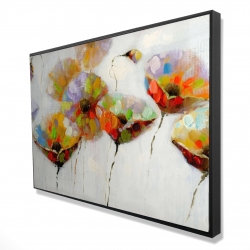 Framed 24 x 36 - 3D - Color dotted flowers