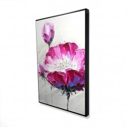 Framed 24 x 36 - 3D - Fuchsia wild flower