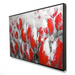 Framed 24 x 36 - 3D - Abstract red tulips