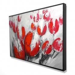 Framed 24 x 36 - 3D - Red tulips