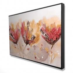 Framed 24 x 36 - 3D - Four little flowers