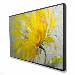 Framed 24 x 36 - 3D - Yellow flower