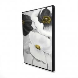 Framed 24 x 36 - 3D - Assorted white flowers
