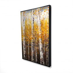 Framed 24 x 36 - 3D - Birches by sunny day