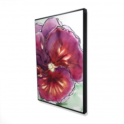 Framed 24 x 36 - 3D - Blossoming orchid with wavy petals