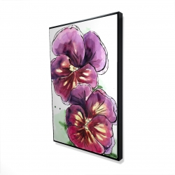 Framed 24 x 36 - 3D - Two blossoming orchid with wavy petals
