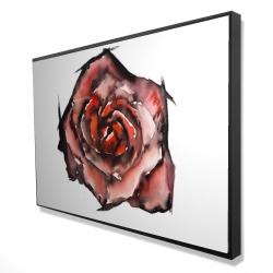 Framed 24 x 36 - 3D - Watercolor rose