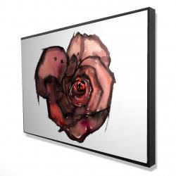 Framed 24 x 36 - 3D - Dark rose