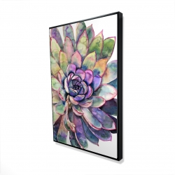 Framed 24 x 36 - 3D - Multicolored succulent