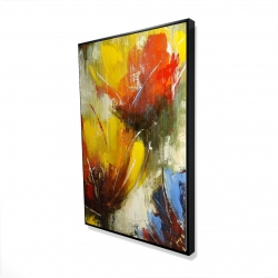 Framed 24 x 36 - 3D - Texturized yellow flowers
