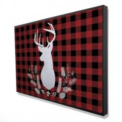 Framed 24 x 36 - 3D - Deer plaid