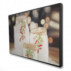 Framed 24 x 36 - 3D - Christmas candles