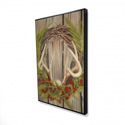 Framed 24 x 36 - 3D - Christmas wreath with panache