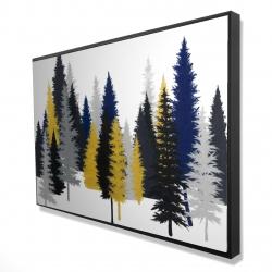 Framed 24 x 36 - 3D - Golden fir