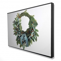 Framed 24 x 36 - 3D - Christmas wreath